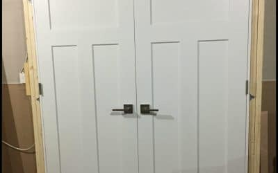 installing interior doors before drywall