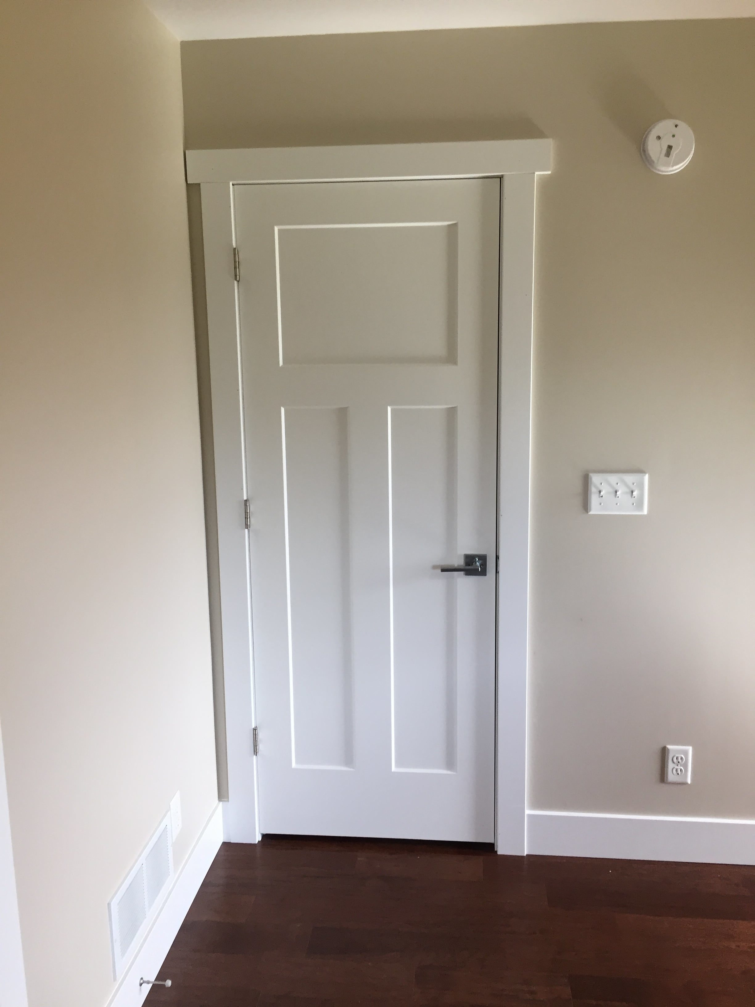 Installing a prehung interior door with shims cabinets matttroy for Hanging interior prehung doors