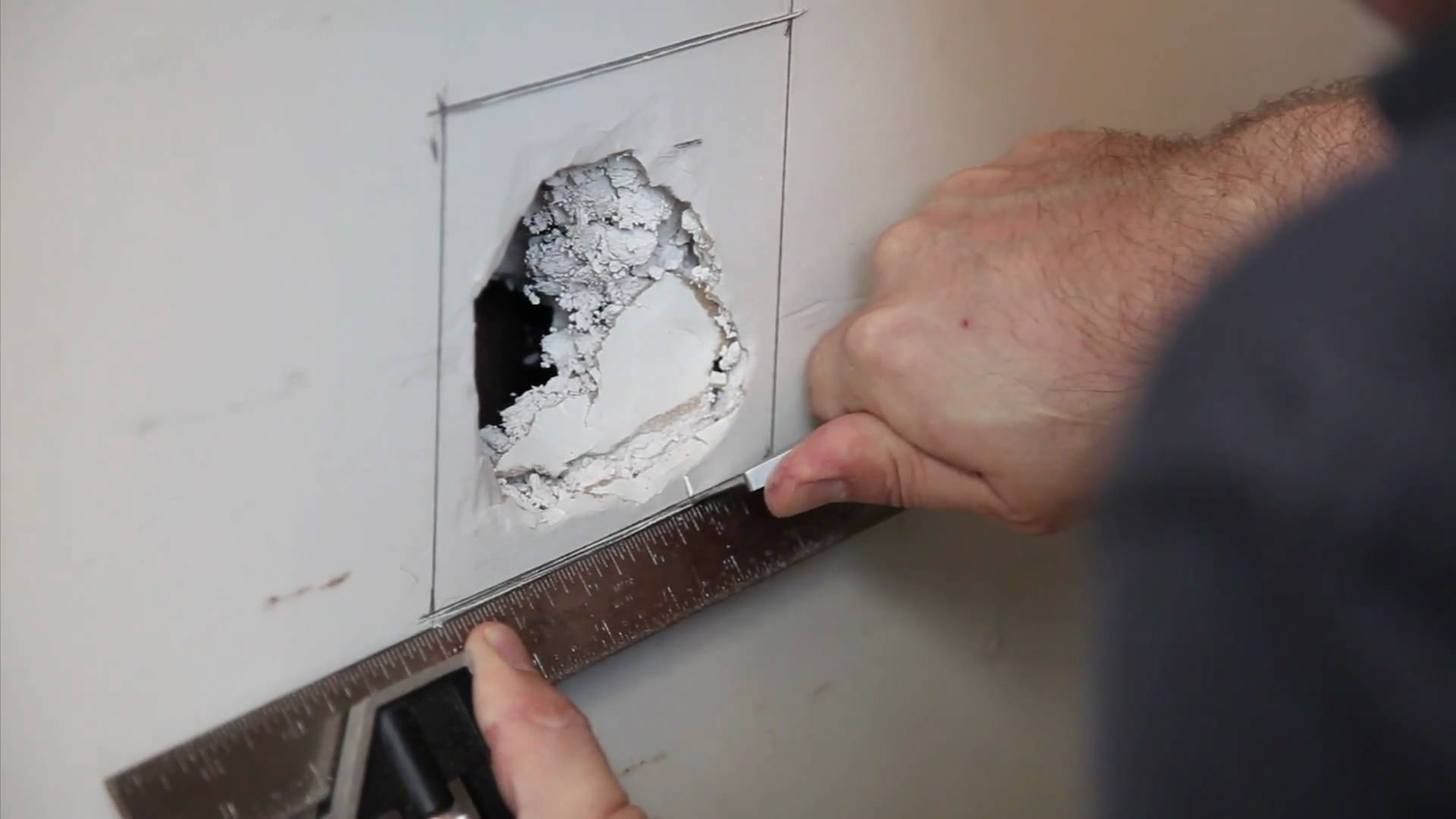 How To Fix A Hole In The Wall Ez Hang Door