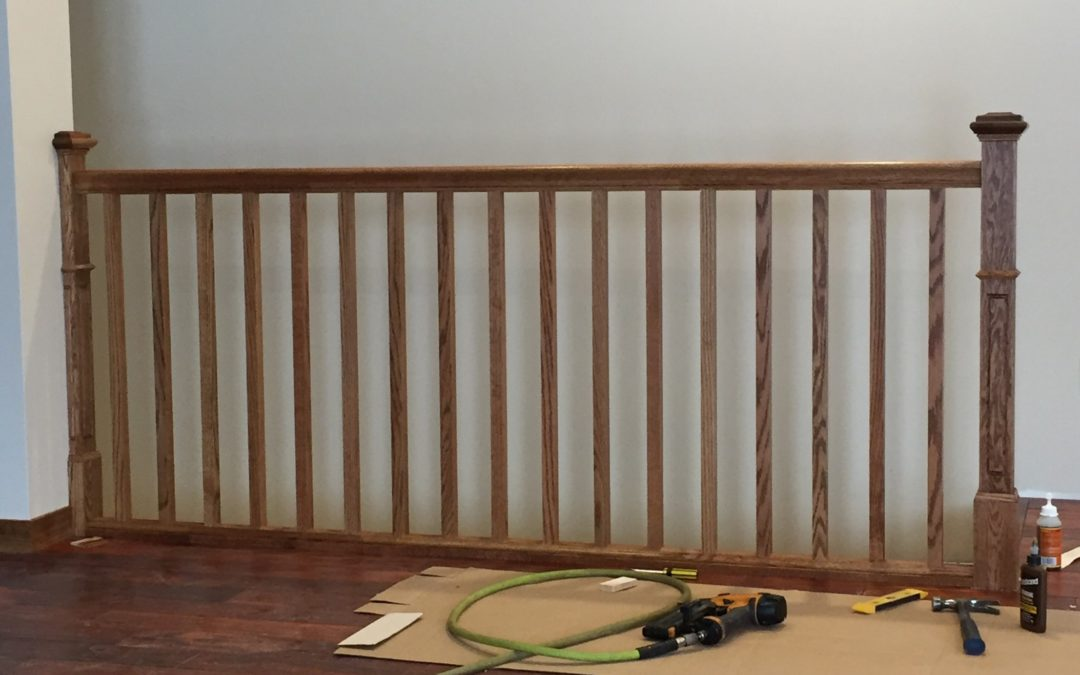 How to Install Railing Over a Stair Opening
